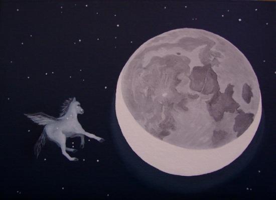 pégase et la lune