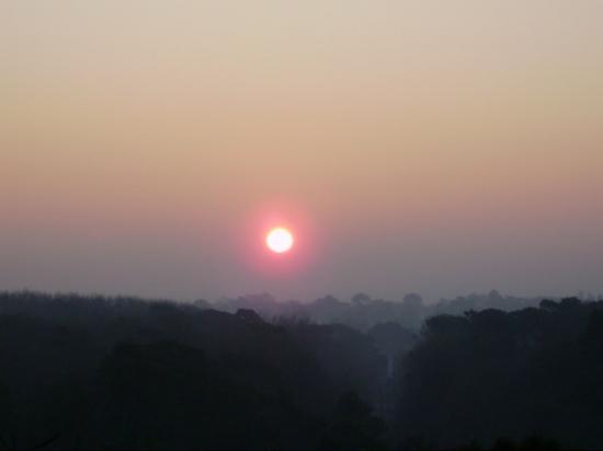 le soleil à l'aube