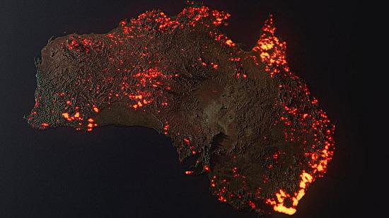 Australie feu carte