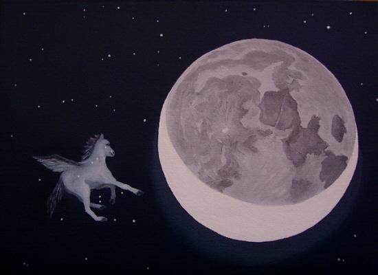 Pegase et la lune